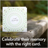 Celebrate their memory - Treat Sympathy Cards